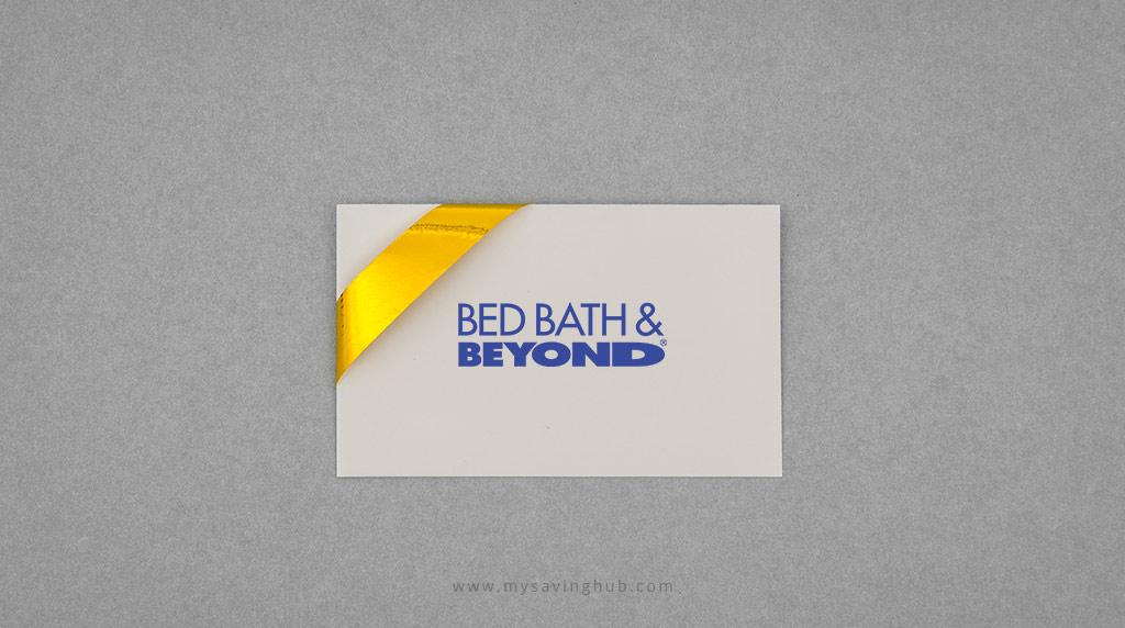 Saving Tips Bed bath and beyond