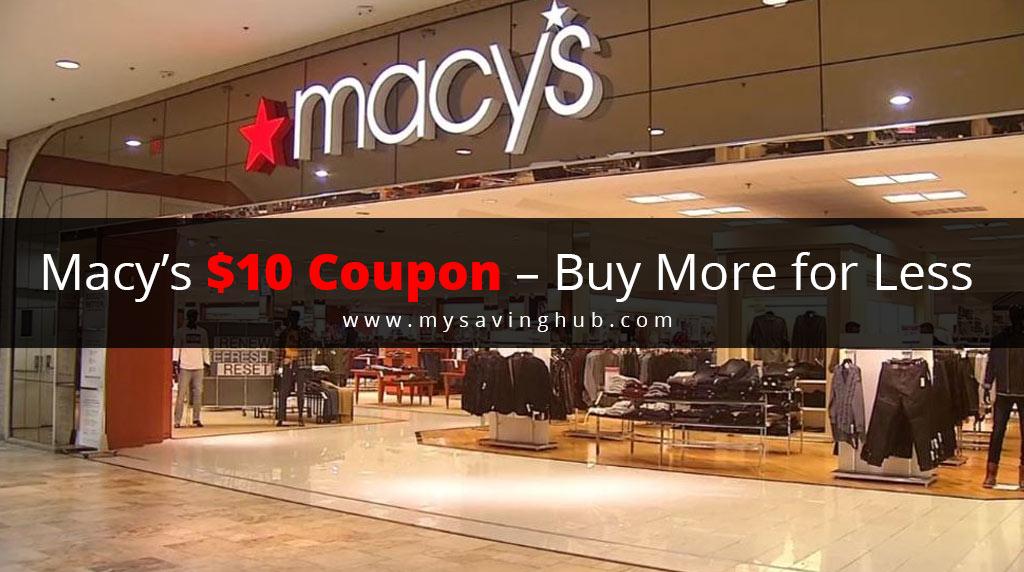 macys $10 coupon