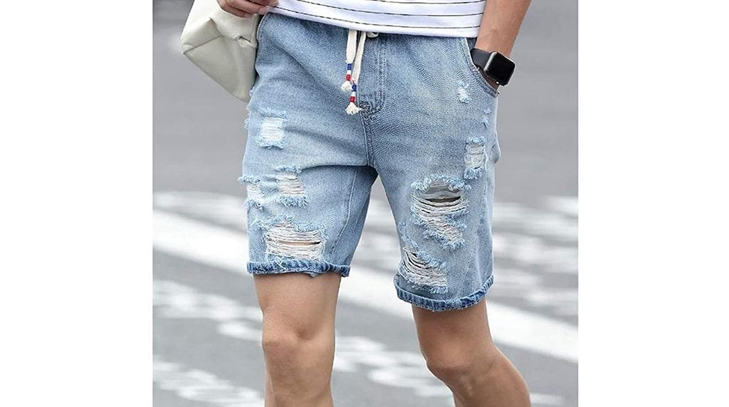 mens fashion trends denim shorts