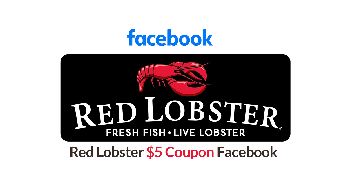 red lobster $5 coupon facebook image