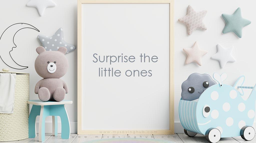 surprise the little ones