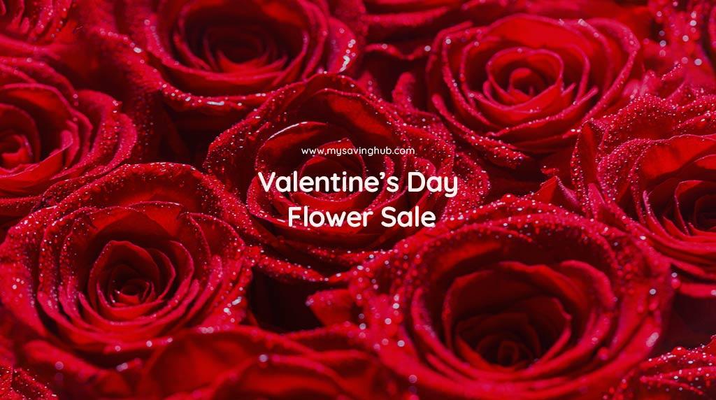 valentines day flower sale